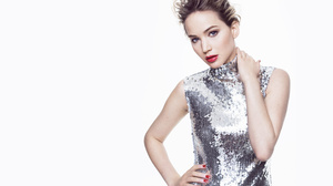 Actress Blue Eyes Dress Jennifer Lawrence Lipstick 3840x2400 Wallpaper