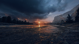 Battlefield 1 Sunset Water 2560x1440 Wallpaper