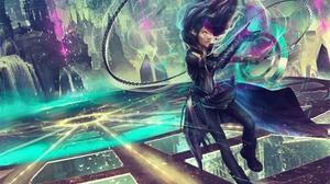 Black Hair Chain Girl Woman Warrior 2000x1600 Wallpaper