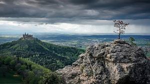 Nature Panorama Landscape Rock Castle Sky 2048x1152 Wallpaper