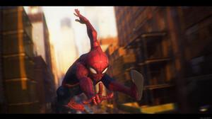 Julen Urrutia Depth Of Field Blurry Background Fan Art Peter Parker Spider Man Digital Art Ultrawide 2300x1294 Wallpaper