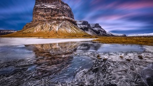 Ice Nature Reflection Rock Winter 2500x1764 wallpaper