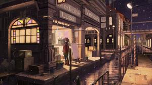City Girl Shop Snowfall Water 1920x1357 Wallpaper