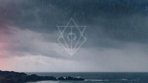 In Flames Siren Charms Jesterhead Sea Cliff Clouds Logo Band Mascot Metalcore Alternative Metal Alte 1920x933 Wallpaper