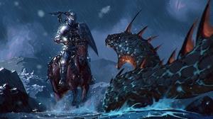 Warrior Armor Rain Horse Creature 1920x1080 wallpaper