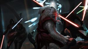 Fan Art Lightsaber Sith Star Wars Warrior 1920x1200 Wallpaper