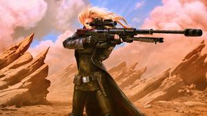 Sci Fi Women Warrior 3840x2160 Wallpaper