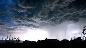 Storm Rain Clouds Sky Urban Nature 2560x1440 wallpaper
