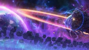 Yuliya Zabelina Digital Art Fantasy Art Ultra Wide Space Planet 7680x2160 Wallpaper