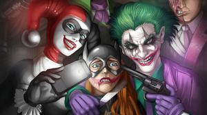Batwoman Joker Harley Quinn 2560x1440 Wallpaper
