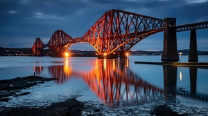 Bridge Edinburgh Forth Bridge Reflection Scotland 2048x1266 wallpaper