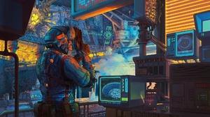 Weapon Futuristic Cyberpunk 1920x1302 wallpaper
