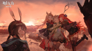 Anime Girls Arknights Video Game Characters Sunset SanMuYYB Heterochromia 1920x1129 Wallpaper