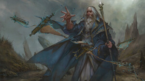 Fantasy Art Artwork Magic Merlin Magician Wizard 1920x1080 Wallpaper