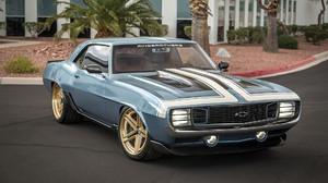 Blue Car Car Chevrolet Camaro G Code Muscle Car Ringbrothers 1920x1080 wallpaper