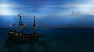 Ocean Shipwreck 5000x2840 Wallpaper