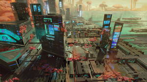 Logan Preshaw City Futuristic City Cityscape Futuristic City Lights Digital Painting Digital Art Art 2500x2140 Wallpaper