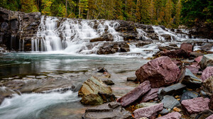Water River Nature Forest Landscape Waterfall 1920x1281 Wallpaper