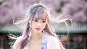 Asian Depth Of Field Girl Lipstick Model Woman 2048x1289 Wallpaper