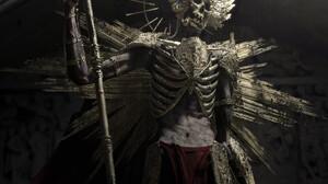 Andres Rios Skeleton Skull Looking At The Side Looking Away CGi 3D Portrait Display Digital Art Grim 3090x4120 Wallpaper