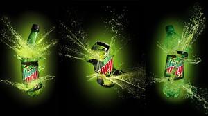 Mountain Dew Logo Can Bottles Collage 2000x1111 Wallpaper