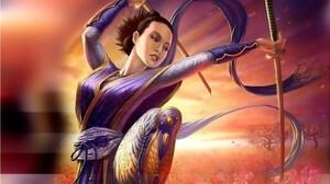 Fantasy Women Warrior 1920x1079 wallpaper