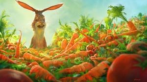 Animal Carrot Rabbit 1920x1114 Wallpaper