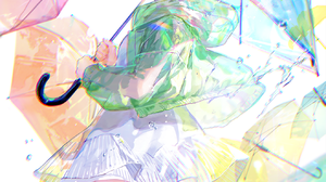 Anime Anime Girls Fuzichoko Fuji Choko Artwork Umbrella Short Hair Thigh Highs Dress Jacket 1322x2000 Wallpaper