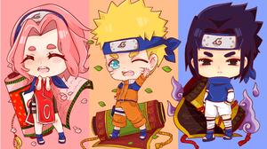 Naruto Uzumaki Sakura Haruno Sasuke Uchiha 3508x2328 Wallpaper