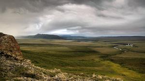 Cloud Earth Grass Meadow Nature River Rock 1900x1200 Wallpaper