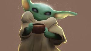 Baby Yoda The Mandalorian Tv Show 1920x1577 Wallpaper