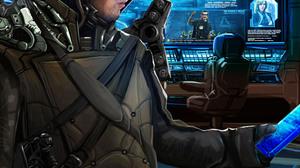 Kev Art Elite Dangerous Commander Hologram Information Hood Weapon 3045x5697 Wallpaper