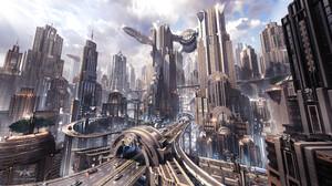 Sci Fi City 3840x2160 Wallpaper