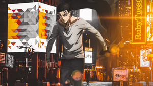 Anime Boys Shingeki No Kyojin Attack On Titan Game Eren Jeager City Lights 1080x1920 Wallpaper