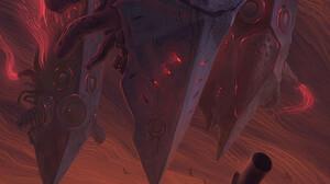 Digital Art Fantasy Art Alexey Egorov Clouds Red Red Sky Top Hat Fantasy City 900x1473 Wallpaper