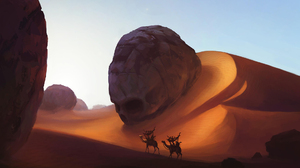 Camel Desert Dune Skull 1920x1080 Wallpaper