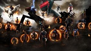 Ant Man Avengers Endgame Black Panther Marvel Comics Captain America Captain Marvel Doctor Strange D 4000x2000 Wallpaper