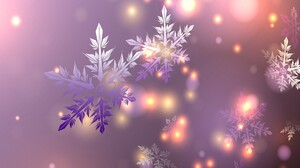 Artistic Light Purple Snowflake 1920x1080 Wallpaper