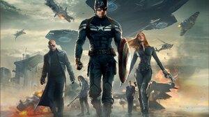 Black Widow Bucky Barnes Captain America Captain America The Winter Soldier Chris Evans Natasha Roma 2048x1517 Wallpaper