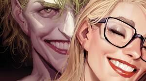 Joker Harleen Frances Quinzel Harley Quinn DC Comics Superhero Costumes Comics Comic Art Fantasy Art 1920x1080 Wallpaper