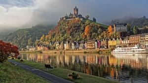 River Castle Mountain House Germany Cochem 2048x1293 Wallpaper