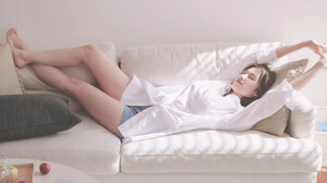 Twice Sana K Pop Barefoot Japanese Women Minatozaki Sana Asian 3500x2845 Wallpaper