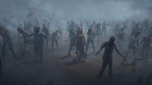 Tian Zi The Walking Dead Artwork Horror Zombies 1920x835 Wallpaper