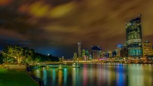 Australia City Light Night 4928x2965 Wallpaper