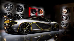 McLaren 4S Store Super Car 4K Rims Spotlights Silver Cars 3840x2160 Wallpaper
