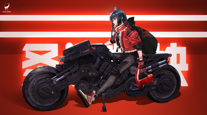 Video Games Anime Arknights Texas Arknights Video Game Characters Anime Girls Animal Ears Motorcycle 1920x1080 Wallpaper