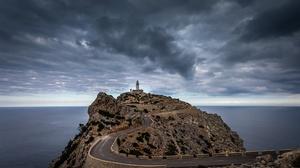 Cloud Horizon Lighthouse Ocean 2048x1186 Wallpaper