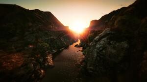 Bridge Sun 1920x1080 Wallpaper