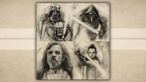 Badge Art Darth Vader Kylo Ren Luke Skywalker Rey Star Wars Star Wars Star Wars Celebration 1920x1080 Wallpaper