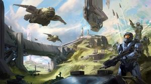 Halo Video Games Artwork Science Fiction 3840x2160 wallpaper